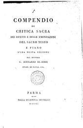 Compendio di critica sacra dei difetti e delle emendazioni del sacro texto, e piano d'una nuova edizione