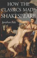 How the Classics Made Shakespeare PDF