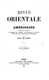 Revue orientale et américaine: Volume1