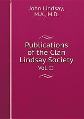 Publications of the Clan Lindsay Society