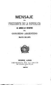 Mensaje ...: Volumen 1873
