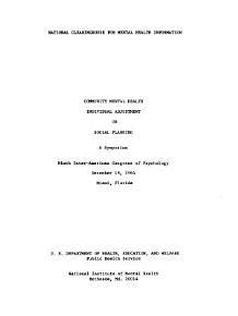 Community Mental Health PDF