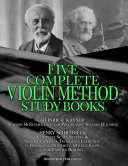 Kayser 36 Elementary and Progressive Studies (Etudes), Schradieck Complete Scale Studies and School of Violin Technics - Exercises:- in Promoting Dexterity, Double Stops, and Various Bowing