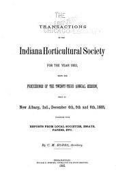 Transactions of the Indiana Horticultural Society ...: Volume 23