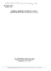 Processes, procedures, and methods to control pollution resulting from silvicultural activities