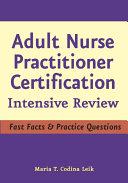 Adult Nurse Practitioner Certification