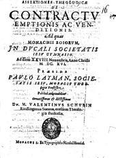 Assertiones theol. de contractu emptionis ac venditionis