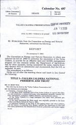 Valles Caldera Preservation Act