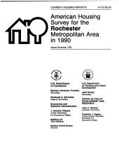 Current Housing Reports: American housing survey for the Rochester metropolitan area in .... H-170, Volume 3
