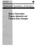 Batterer Intervention