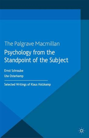 Psychology from the Standpoint of the Subject PDF