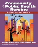 Community   Public Health Nursing  Promoting the Public   s Health PDF