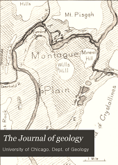 The Journal of Geology: Volume 6