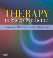Therapy in Sleep Medicine E Book PDF