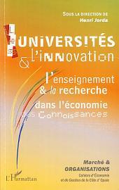Les universités et l'innovation: L'enseignement et la recherche dans l'économie des connaissances