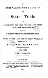 A Complete Collection of State Trials and Proceedings for High Treason and Other Crimes and Misdemeanors: From the Earliest Period to the Year 1783 : with Notes and Other Illustrations, Volume 19, Page 1813