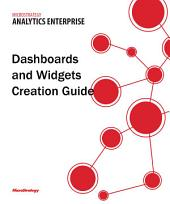 Dashboards and Widgets Creation Guide for MicroStrategy Analytics Enterprise