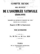 Compte rendu des séances de l'Assemblée nationale: Volume14