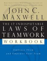 The 17 Indisputable Laws of Teamwork Workbook PDF