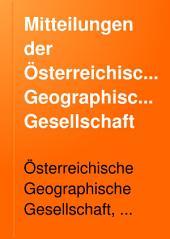 Mitteilungen der Österreichischen Geographischen Gesellschaft: Band 25