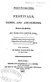 Festivals, Games, and Amusements: Ancient and Modern