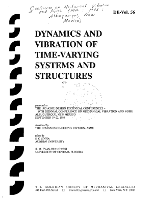 Dynamics and Vibration of Time varying Systems and Structures PDF