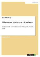 Fuhrung Von Mitarbeitern   Grundlagen PDF