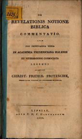 De revelationis notione biblia commentatio