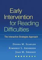Early Intervention for Reading Difficulties  First Edition PDF