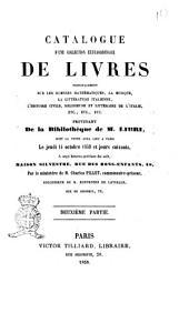 Catalogue d'une collection extraordinaire de livres ... provenant de la bibliothèque de M. Libri ..: 2