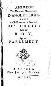 Abbrégé des derniers mouvemens d'Angleterre: Volume1