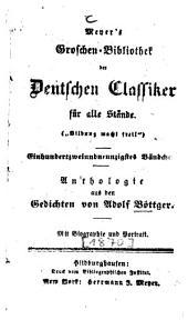Anthologie aus den Gedichten von Adolf Böttger