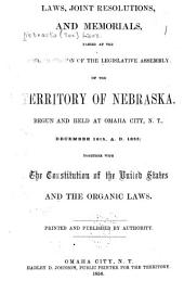 Laws, Joint Resolutions, and Memorials Passed at the Second Session of the Legislative Assembly, of the Territory of Nebraska: Begun and Held at Omaha City, N.T., December 16th, A, Part 1855