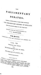 Parliamentary Debates: Official Report : ... Session of the ... Parliament of the United Kingdom of Great Britain and Ireland, Volume 7
