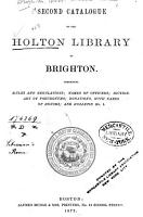 Second Catalogue of the Holton Library of Brighton PDF