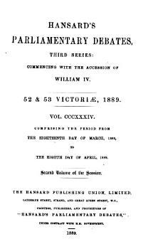 The Parliamentary Debates  Authorised Edition   PDF
