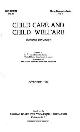 Child Care and Child Welfare PDF