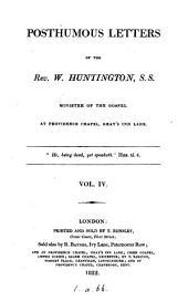 Posthumous letters [ed. by E. Sanderson].