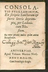 Consolatio pusillanimium
