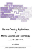 Remote Sensing Applications in Marine Science and Technology PDF
