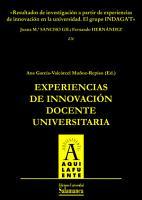 Resultados de investigaci  n a partir de experiencias de innovaci  n en la universidad  El grupo INDAGAT PDF
