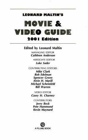 Leonard Maltin s Movie and Video Guide 2001
