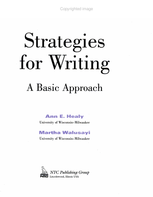 Strategies for Writing PDF