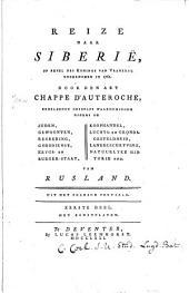 Reize naar Siberië, op bevel des konings van Vrankryk ondernomen in 1761: Volume 1