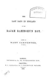 The Last Days in England of the Rajah Rammohun Roy