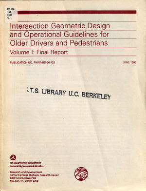 Intersection Geometric Design and Operational Guidelines for Older Drivers and Pedestrians