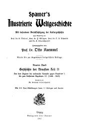 Spamer's Illustrierte Weltgeschichte: mit besonderer Berücksichtigung der Kulturgeschichte ...