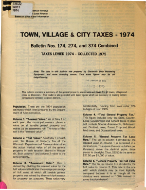 Town, Village and City Taxes