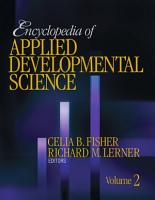 Encyclopedia of Applied Developmental Science PDF