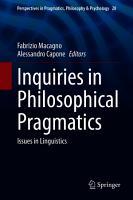 Inquiries in Philosophical Pragmatics PDF